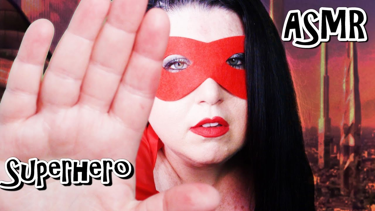 ASMR Superhero Saves you Roleplay (Hand Movements, Face Brushing, Mouth Sounds, Personal Attention)