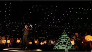 SUPER BOWL 53 MAROON 5 HALFTIME SHOW ILLUMINATI EXPOSED...