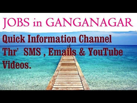 JOBS IN  GANGANAGAR     for Freshers & graduates. Industries, companies