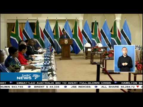 SA and Botswana have vowed to consolidate closer relations
