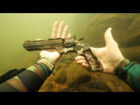 Found Gun Underwater in River While Scuba Diving! WRBL News Interview