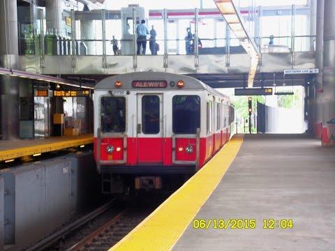🚇/💺 MBTA (Boston): RED Line (Subway) to Ashmont  'and'  to Braintree... FULL RIDE!