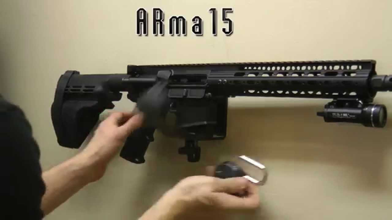 AR15 Lock and Wall Mount Installation ARma15  YouTube