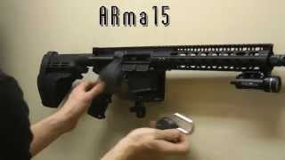 AR15 Lock and Wall Mount Installation ARma15