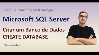 3 - T-SQL server - إنشاء قاعدة بيانات Criar بانكو دي Dados - SQL Server