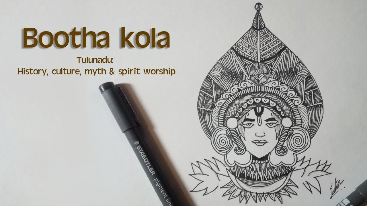Bootha Kola Line Art Youtube