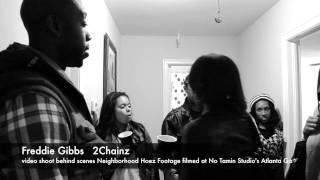 Freddie Gibbs Feat-2Chainz video shoot behind scenes Neighborhood Hoez