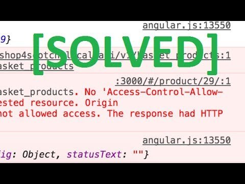 CORS access control allow origin [SOLVED]