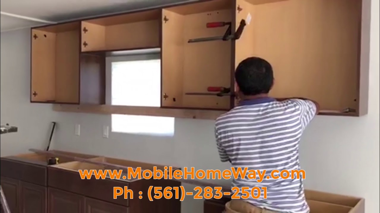 installing kitchen cabinets into your mobile home - Mobile Home Kitchen Cabinets