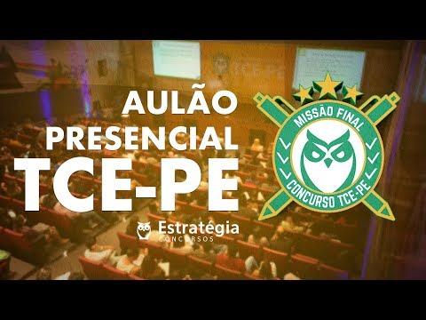 Revisão Concurso TCE-PE - Aulão Presencial em Recife