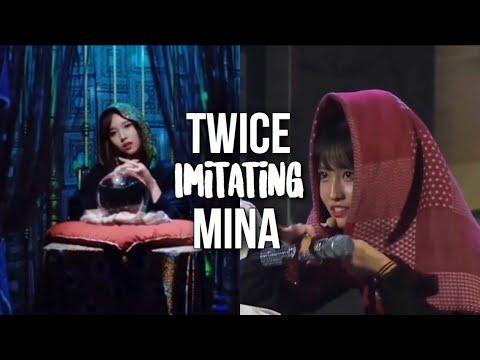 TWICE imitating Mina