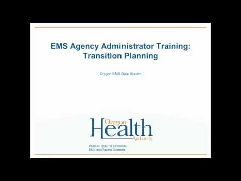 Agency Administrator 1: Transition Planning