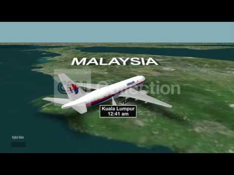MALAYSIA MISSING PLANE: LAST CONTACT (MAP)