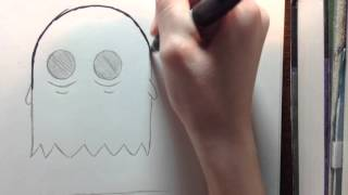 How to Draw a Cute and Easy Cartoon Ghost!