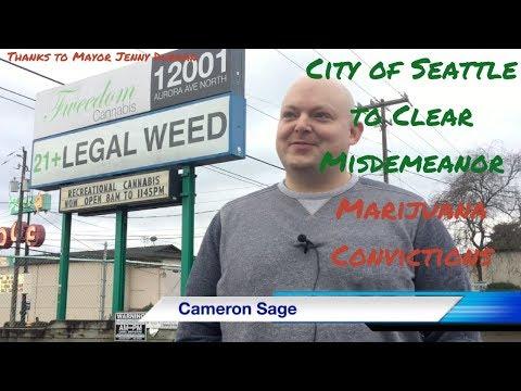 City of Seattle to Clear Misdemeanor Marijuana Convictions