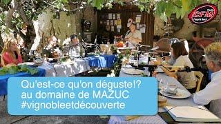 """Qu'est-ce qu'on déguste!? spécial """"Vignoble et découverte"""" Domaine de Mazuc"""