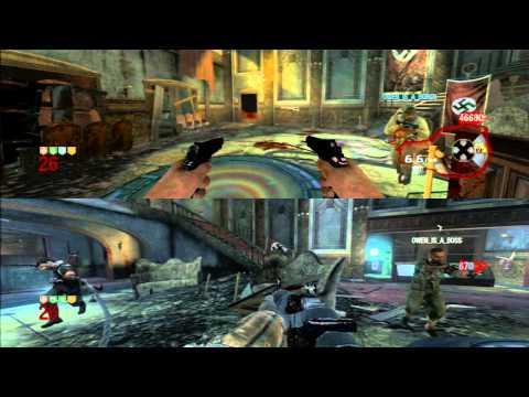 CoD Black Ops - Zombies - 'Kino Der Toten' Co op Split Screen Rounds 1-40