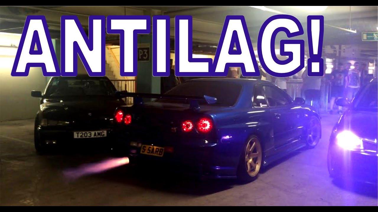 Nissan Skyline R34 GTR - FLAMES - ANTILAG! - YouTube