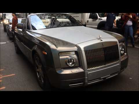 50 Cent in Rolls-Royce Phantom Drophead Coupé in New York Manhattan USA