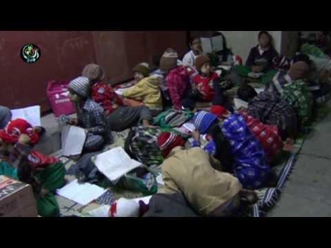 Sidewalk classroom offers tuition for street children