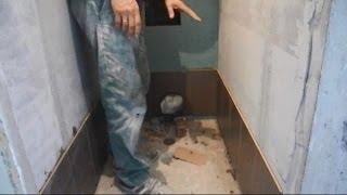 Укладка плитки в туалете ч.3(В ролике показано с чего и как начать и как правильно уложить маяковые ряды плитки,при условии,что нижний..., 2014-06-11T06:26:52.000Z)