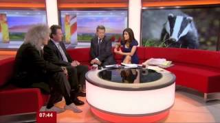 Brian May discusses Badger Cull on Breakfast 18/09/12