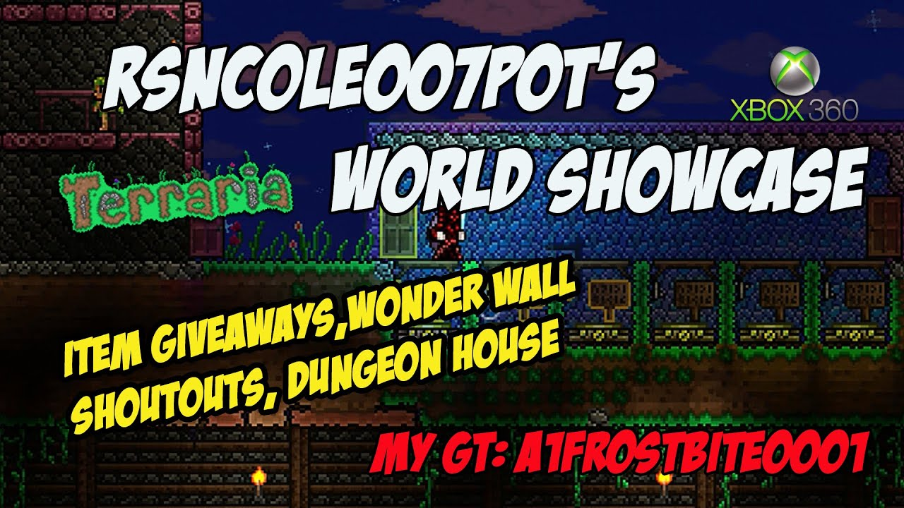 RSNCole007Pot\'s Terraria World Showcase | Dungeon House, All Item ...