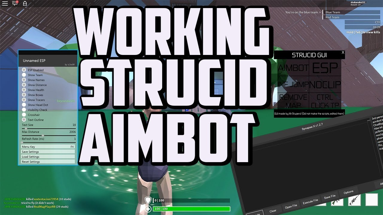 Working Strucid Aimbot esp Noclip and nomap Strucid Gui ...