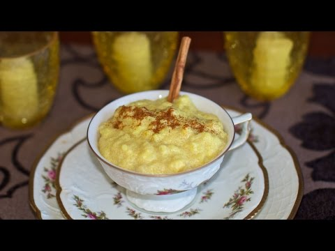 Creamed Banana Rice & Polenta Porridge Vegan Breakfast or Dessert Idea!