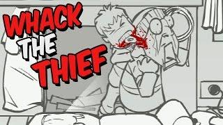 Whack The Thief Gameplay German - Er biss ihm ein Ohr ab !!!