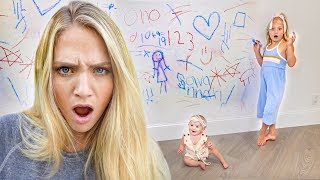 Everleigh and Posie Destroyed Our Wall... Can't Believe We Pranked Savannah Again!!!