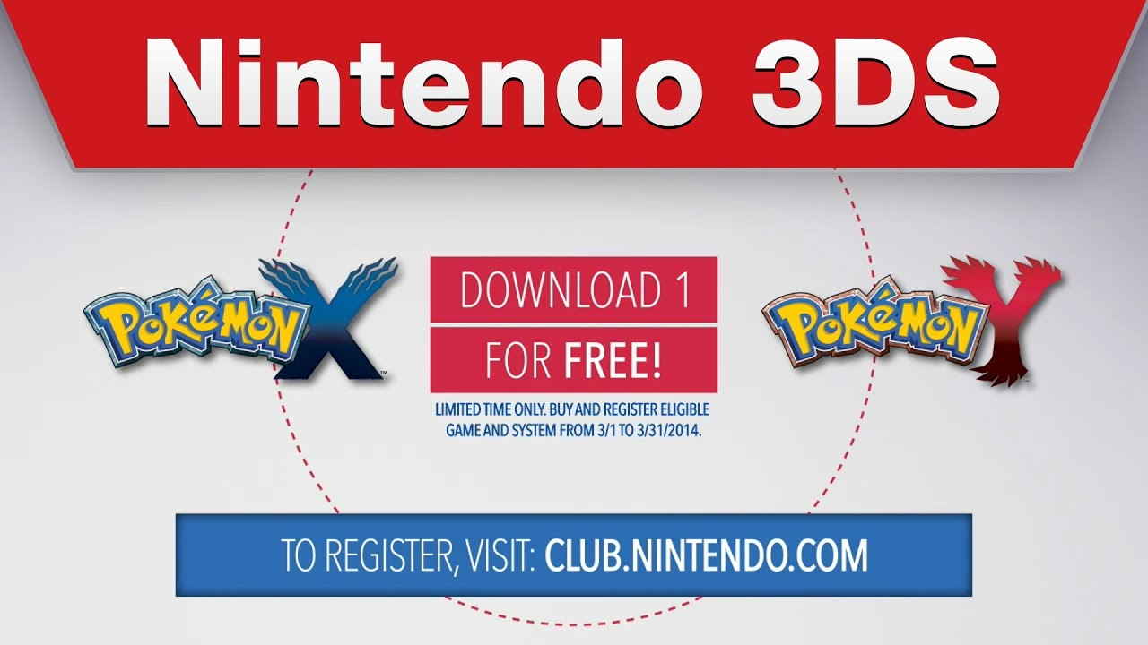 Nintendo 3DS - Free Pokémon X / Pokémon Y Digital Download ...