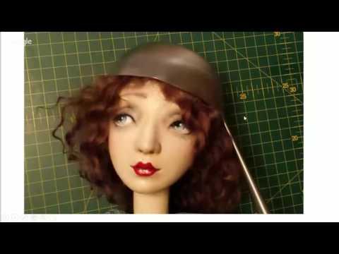 Как сделать шляпку для куклы. МК Елены Коверзневой. How to make doll's hat. скачать