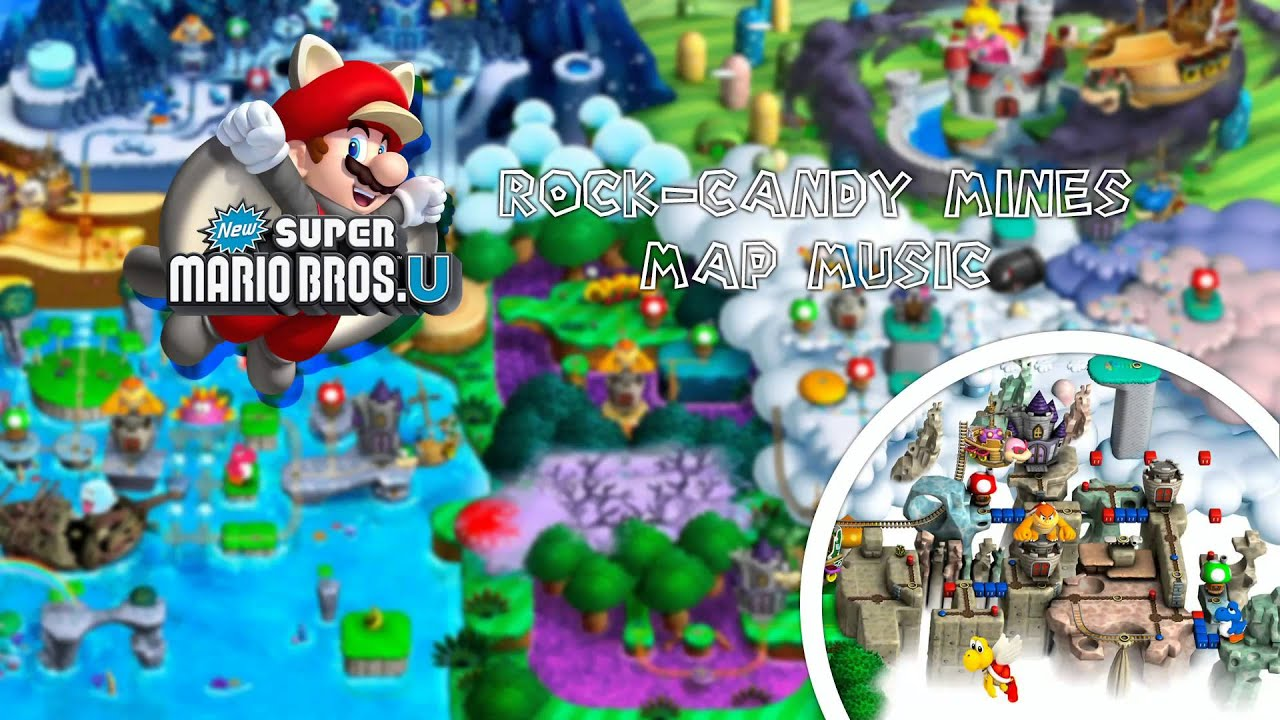 New super mario bros u rock candy mines map music youtube gumiabroncs Images
