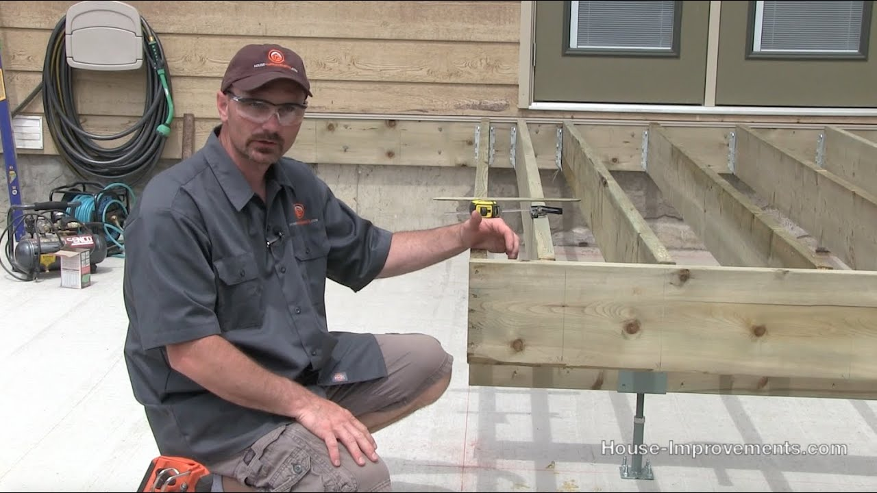 How to build a deck 2 framing beam joists ledger for How to build a floor for a house