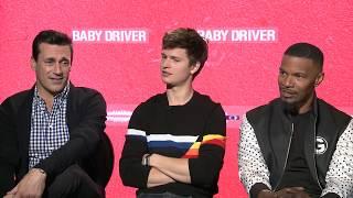 Jon Hamm, Ansel Elgort & Jamie Foxx Talk BABY DRIVER   Exclusive Interview