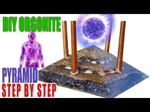 DIY Orgonite PYRAMID CHEMBUSTER Chemtrails Making Video. How make Orgon Pyramid. Orgone Step By Step