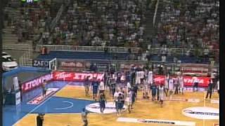 Greece - Serbia  74-73 Acropolis tournament 2010 (19-8-10) Basketball episodes Krstic Μpourousis