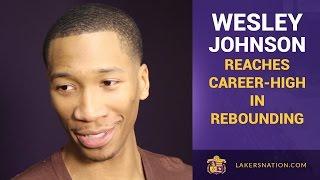 Lakers Wesley Johnson Reaches Career-Highs In Rebounding