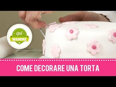 Come Decorare Una Torta Con Pasta Di Zucchero Youtube
