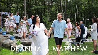 Deanna & Matthew | A fun yet intimate backyard wedding in Coldwater, Ontario