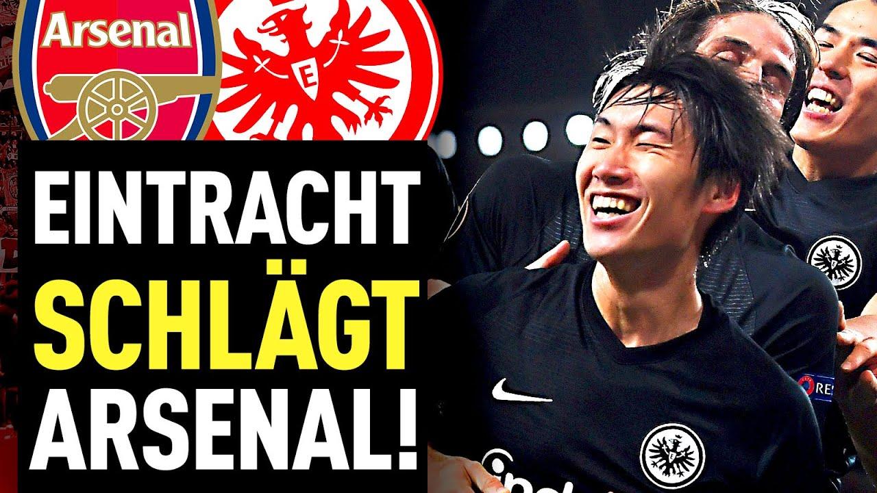 Eintracht Frankfurt Fans Feiern Trotz Sperre Gegen Arsenal Fussball 2000