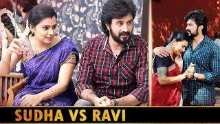 எங்க குடும்பத்து மேல கண்ணு வைக்காதீங்க... | Azhagu Actress Shruthi Raj & Vibhu Interview Sudha Ravi