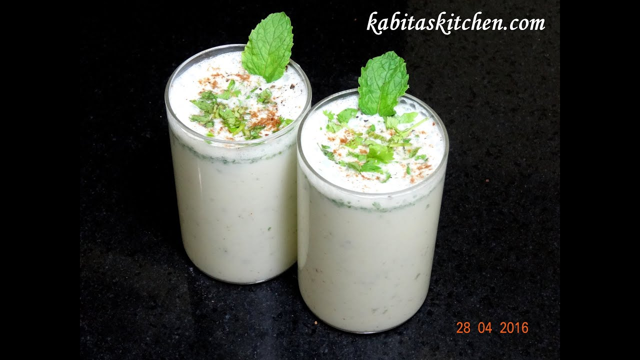 Masala Chaas Recipe-Masala Taak-Spiced Buttermilk-Indian ...