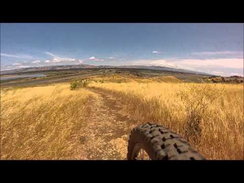 Mountain Biking Coyote Hills Fremont, California (fork mounted GoPro)