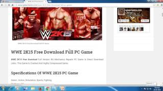 HOW TO DOWNLOAD WWE 2K15 PC VERISION COMPRESSED WITHOUT SURVEYS,NO TORRENTS,NO VIRUSES 100% WORKING.