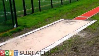 Polymeric Surface Long Jump Pit Construction in Glasgow, Scotland | Long Jump Pit Construction