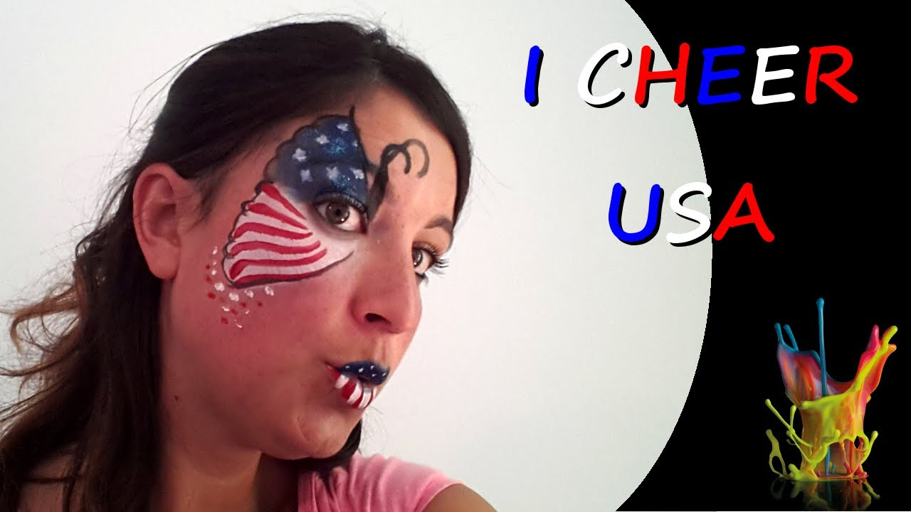 Amato Face Painting I Cheer USA - World Cup Brazil 2014 - Face Painting  NX09