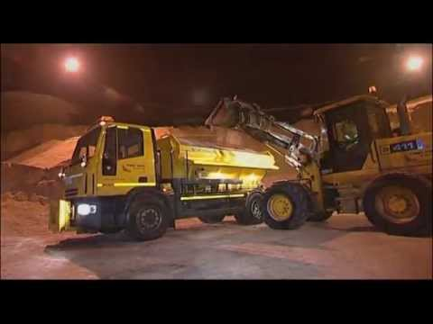 Getting ready for winter - the journey of salt from mine to road