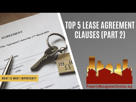 Top 5 Lease Agreement Clauses - Part 2